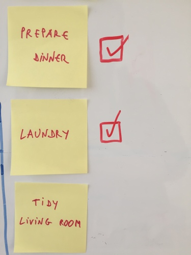 Tick the boxes when the tasks are done